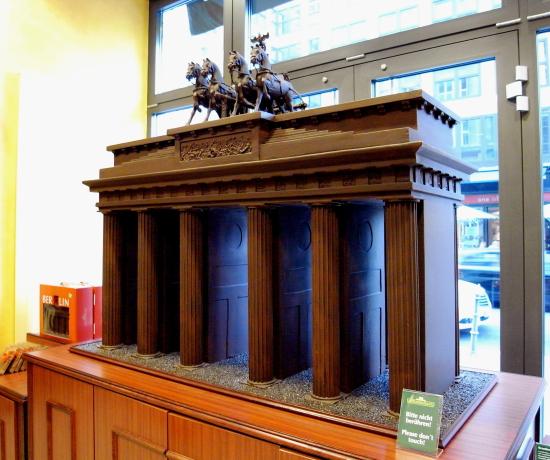 Puerta de Brandenburgo de chocolate