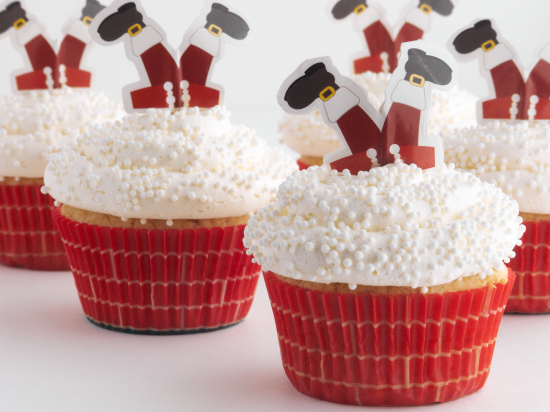 Cupcakes de Santa Claus