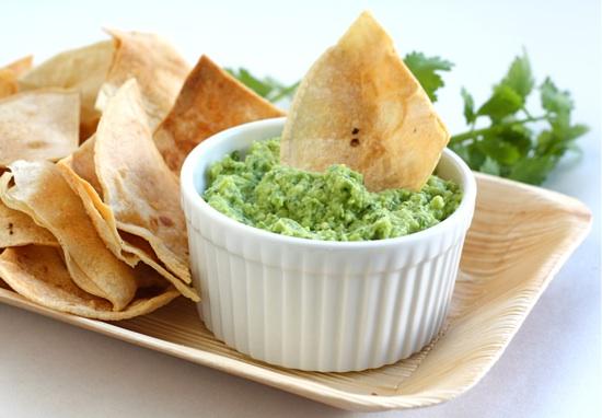 receta para guacamole con nachos