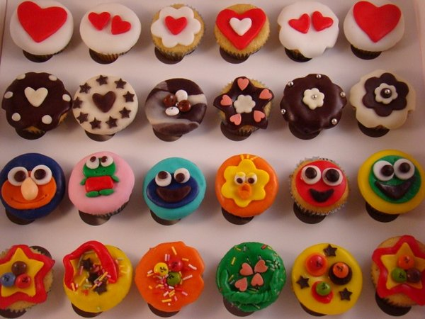 cupcakes decorados recetas para cumpleaños infantiles