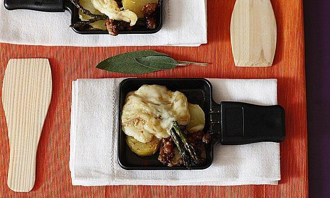 receta de raclette con lacón y pimentón